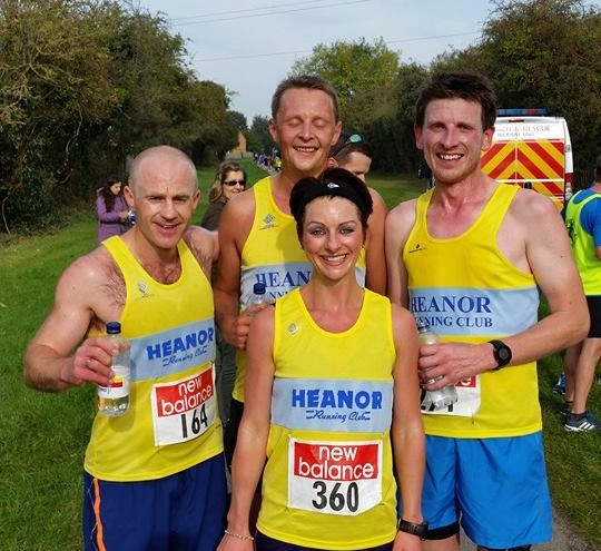 carl, rob, gary and laura at shelton 10k